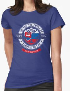People of Tomorrowland country Flags logo Badge - slovakia - Slovak - Slovenska - slovensky - slovaquie - slovaque Womens Fitted T-Shirt