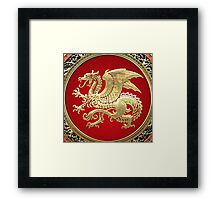 Icelandic Dragon (Gold) Framed Print