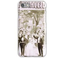 Performing Arts Posters Blaneys extravaganza success A female drummer 2000 iPhone Case/Skin