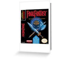 Final Fantasy: Box art Greeting Card