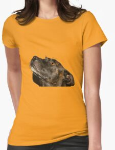 The cutiest staffie Womens Fitted T-Shirt