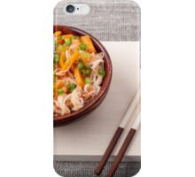 Asian dish of rice noodle and vegetable seasonings iPhone Case/Skin