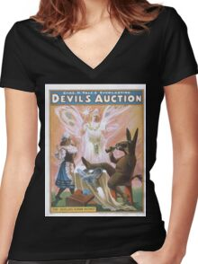 Performing Arts Posters Chas H Yales everlasting Devils auction 0044 Women's Fitted V-Neck T-Shirt