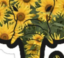 Sunflower Elephant Sticker
