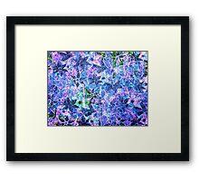 Blue and Purple Vintage Flower Pattern Framed Print