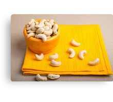 Natural and healthy cashew nuts for raw foodists Canvas Print