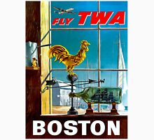 """""""TWA AIRLINES"""" Fly to Boston Advertising Poster Unisex T-Shirt"""