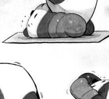 Pilates Panda Sticker