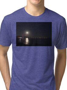 Full Moon Rise Tri-blend T-Shirt