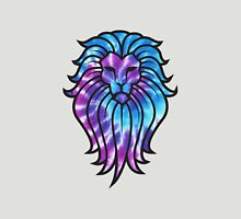 Blue and Purple Tie Dye Lion Unisex T-Shirt
