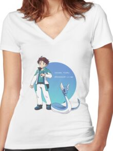 Oikawa PokemonTrainer Women's Fitted V-Neck T-Shirt
