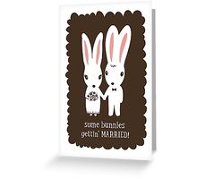 Some Bunnies Getting Married Greeting Card