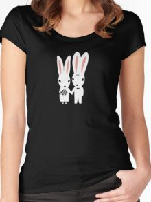 Some Bunnies Getting Married Women's Fitted Scoop T-Shirt