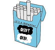 The Fault in Our Stars Okay Cigarette Box by rbx11