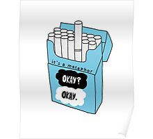 The Fault in Our Stars Okay Cigarette Box Poster