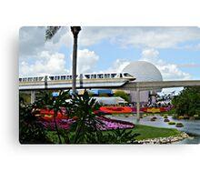 Monorail Through Future World Canvas Print
