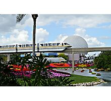 Monorail Through Future World Photographic Print