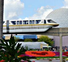 Monorail Through Future World Sticker