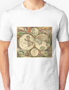 Map of the World (1689) Unisex T-Shirt
