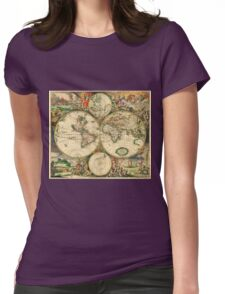 Map of the World (1689) Womens Fitted T-Shirt
