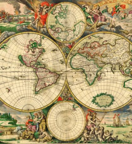Map of the World (1689) Sticker