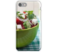 Useful vegetarian food from raw tomatoes, cucumbers and onions iPhone Case/Skin