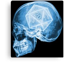 Gamer inside - Head Canvas Print