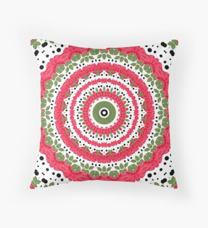 Seamless pattern east ornament with colorful details print, elegant with oriental ornaments Throw Pillow