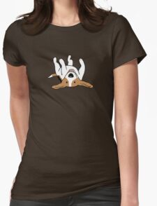 Care-Free Beagle Womens Fitted T-Shirt
