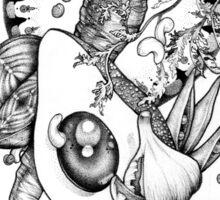 Avocado and Veg Mandala Medley Sticker