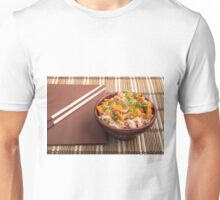 One serving of rice vermicelli hu-teu with vegetables Unisex T-Shirt