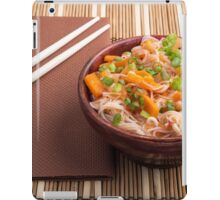 One serving of rice vermicelli hu-teu with vegetables iPad Case/Skin