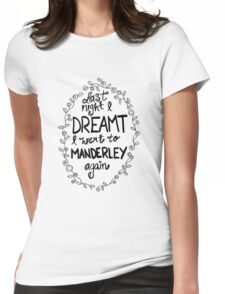 Last night I dreamt I went to Manderley again Womens Fitted T-Shirt