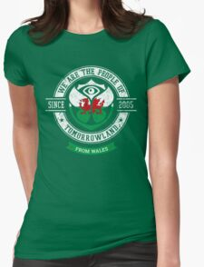People of Tomorrowland country Flags logo Badge - Wales - Cymru - Pays de Galles -Cymraeg - Welsh Womens Fitted T-Shirt