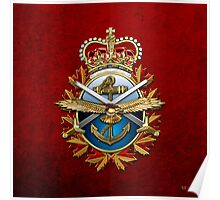 Canadian Forces Emblem 3D Poster