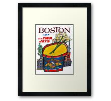 """TWA AIRLINES"" Fly to Boston Advertising Print Framed Print"