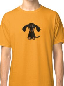 Long Haired Dachshund Puppy Classic T-Shirt
