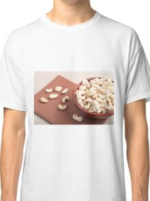 Close Up view on raw cashew nuts for vegetarian food Classic T-Shirt