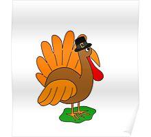 Thanksgiving turkey - transparent Poster