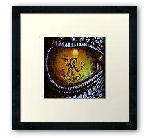 Reptile reflection in the Dragon's eye! Framed Print