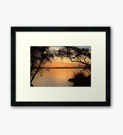 Super Sunset at Magical Myall Framed Print
