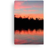 Pink Blue Peach And Black Canvas Print