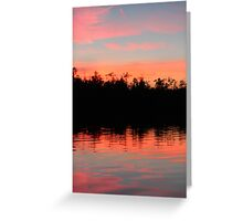 Pink Blue Peach And Black Greeting Card