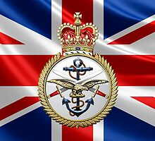 British Armed Forces Emblem 3D by Captain7