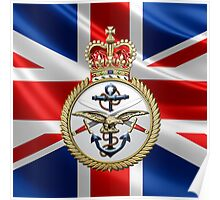 British Armed Forces Emblem 3D Poster