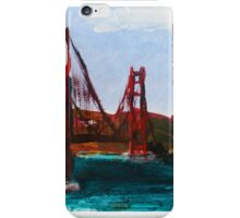 Golden Gate Bridge San Francisco Acrylic Painting Fine Art iPhone Case/Skin