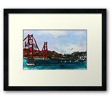 Golden Gate Bridge San Francisco Acrylic Painting Fine Art Framed Print