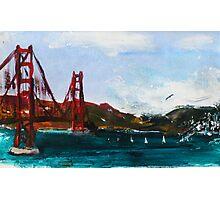 Golden Gate Bridge San Francisco Acrylic Painting Fine Art Photographic Print