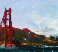 Golden Gate Bridge San Francisco Acrylic Painting Fine Art Sticker