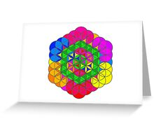 Flower of Life Design Greeting Card